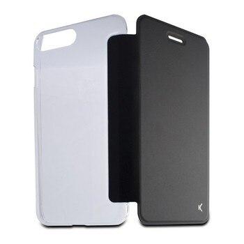 Folio cep telefonu kılıfı Iphone 8 artı KSIX kristal siyah