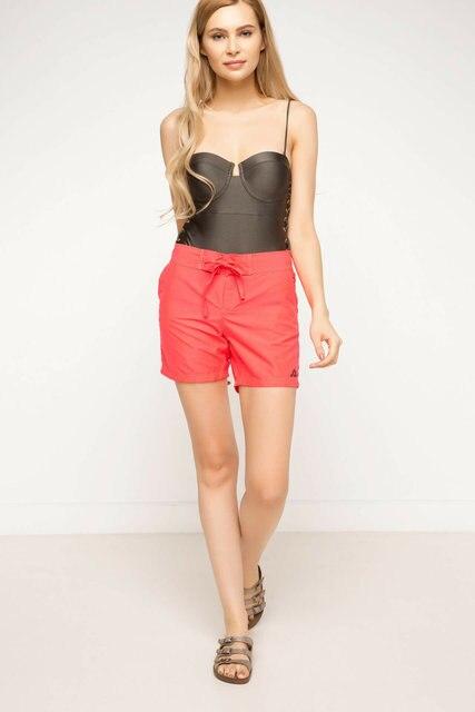 DeFacto Summer Woman Woven Swimming Short Female Casual Drawstring Shorts Ladies Pure Color Comfort Short Pants - G8560AZ17SM 8