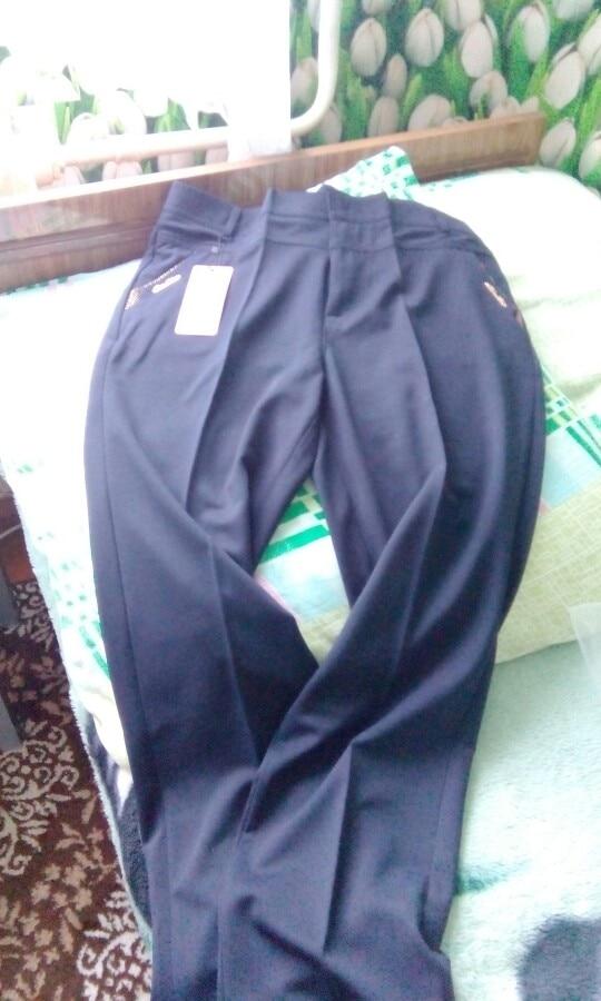 Women Trousers Straight Pants High Waist Casual Female Pantalon Femme Calca Feminina Khaki Beige Red Blue Big Plus Size 28~38 photo review