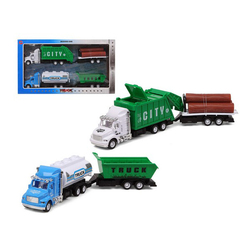 Set of cars Garbage truck Green 119275 (3 Uds)