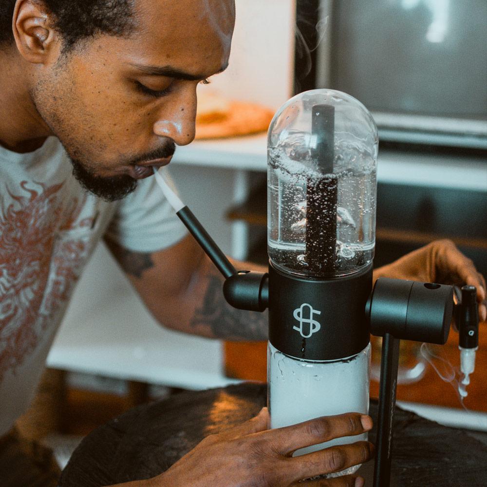 Premium Luxurious Gravity Pyrex Stundenglass Hookah Shisha Glass Bongs Weed Water Pipe 5