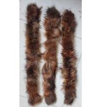 Linhaoshengyue70 см натуральный мех енота детский воротник с капюшоном Высокое качество мех енота модное пальто воротник шапка воротник