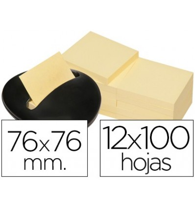 STAND NOTEPAD STICKY NOTES POST-IT STONE NEGRACON 12 NOTEPAD YELLOW 76X76MM
