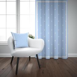 Mais azul branco estrelas fronteiras menino 3d impressão crianças bebê painel da janela conjunto cortina combinar presente travesseiro caso
