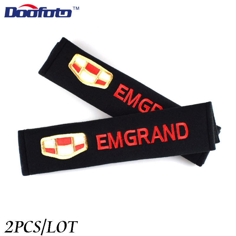 Doofoto Car Seat Belt Cover Shoulder Protective Case For Geely Emgrand 7 X7 EC7 Atlas Boyue CK2 GC6 Parts LC Accessories Styling