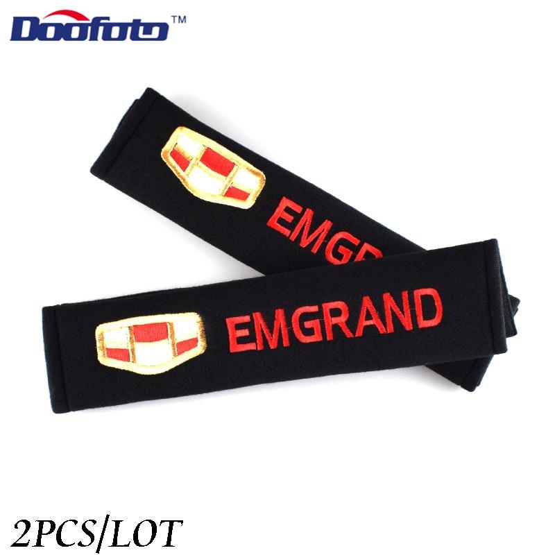 Doofoto pokrywa pasa bezpieczeństwa samochodu ramię etui ochronne dla Geely Emgrand 7 X7 EC7 Atlas Boyue CK2 GC6 części LC akcesoria stylizacji