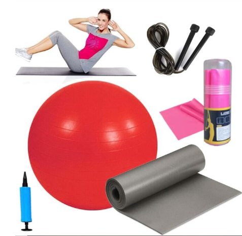 65 Cm Pilates Ball Pilates Minderi Pilates Tape Jump Rope Set