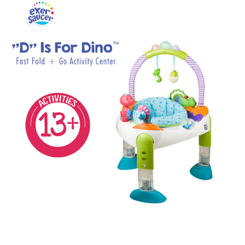 Exersaucer by evenflo D is for Dino Fast Fold + Go Activity Center Baby Toy d is for deadbeat