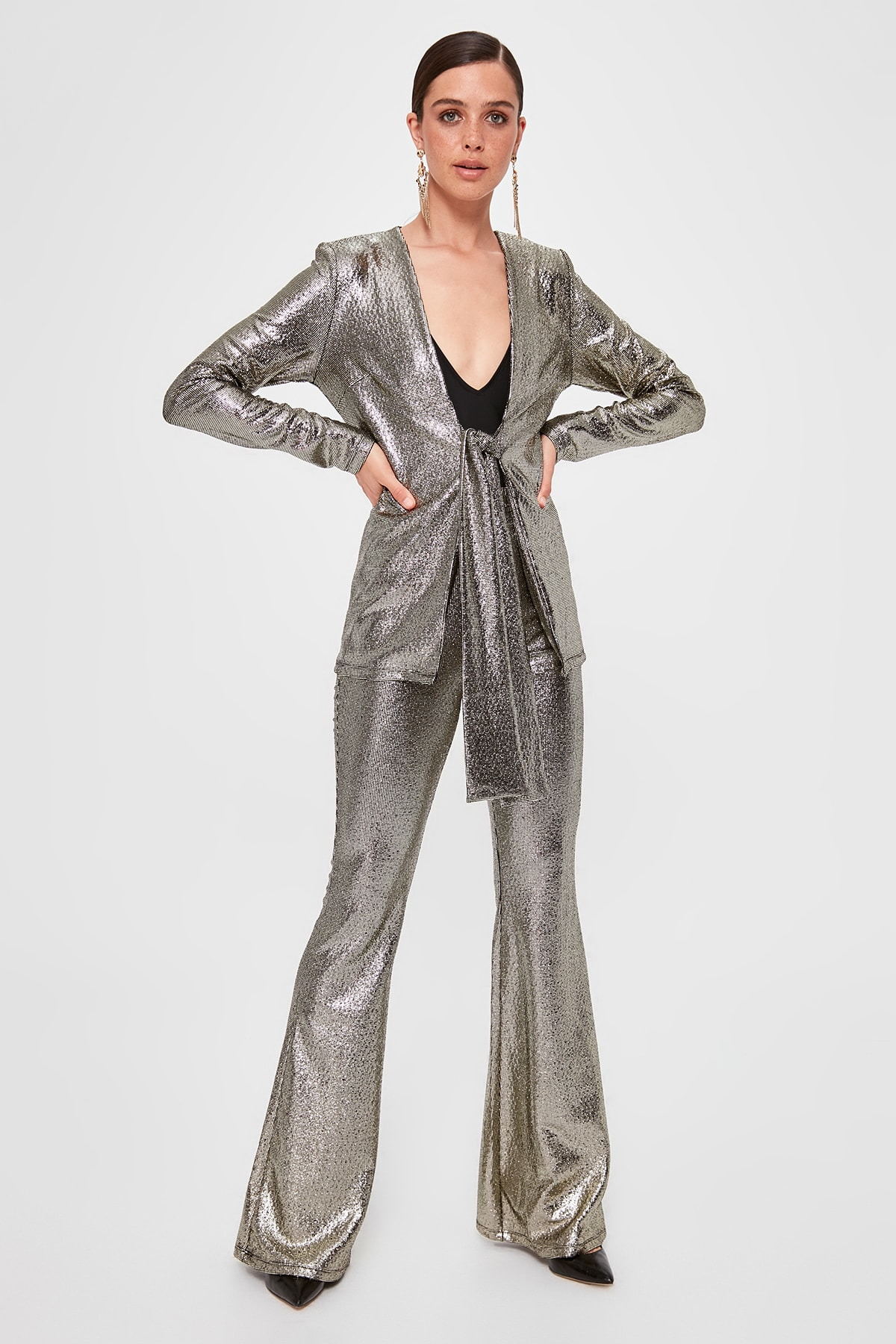 Trendyol Flare Pants TPRAW20PL0415