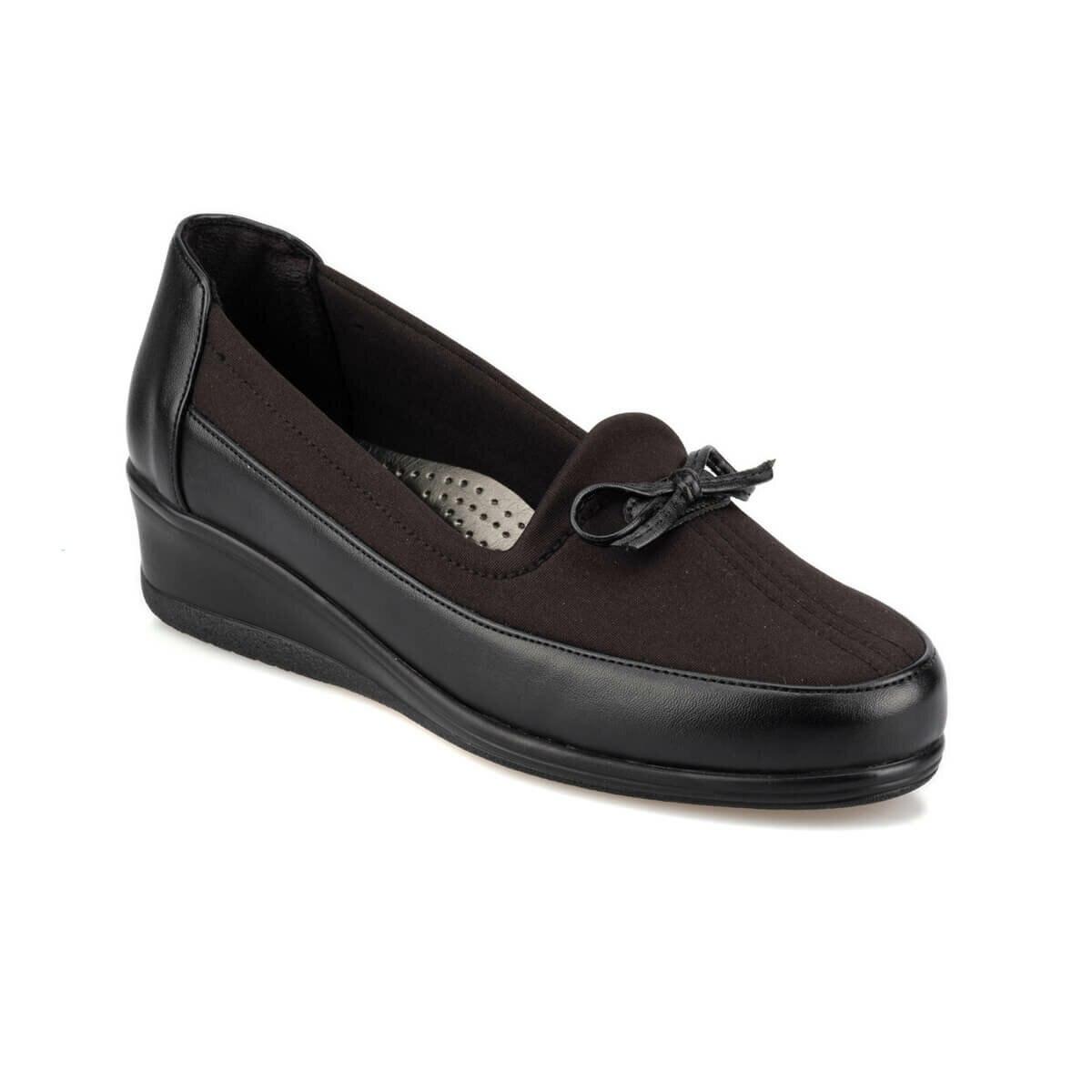 FLO 92.150034.Z Black Women 'S Wedges Shoes Polaris