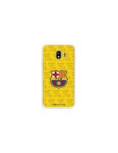 Официальный FC Барселона Щит чехол желтый Samsung Galaxy J4 2018