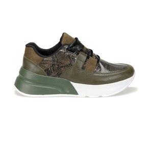 FLO Green Khaki Women's Sneakers Casual Sport Shoes BUTIGO KİBA56Z SKIN