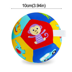Baby Toy Animal Ball Soft Plush Baby Mobile Toys With Sound Baby Rattle Body Building Ball Newborn Educational Toys 0-12 Months