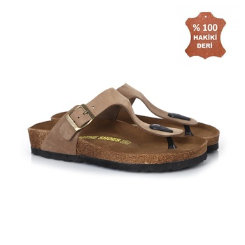 MSTE-1100 genuine leather men's and women's thong sandals genuine 100 leather men women sandals 36-44 numaralar Inter