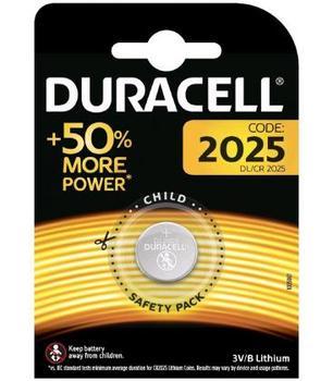 Pila de boton Duracell bateria original Litio CR2025 3V en blister 1X...
