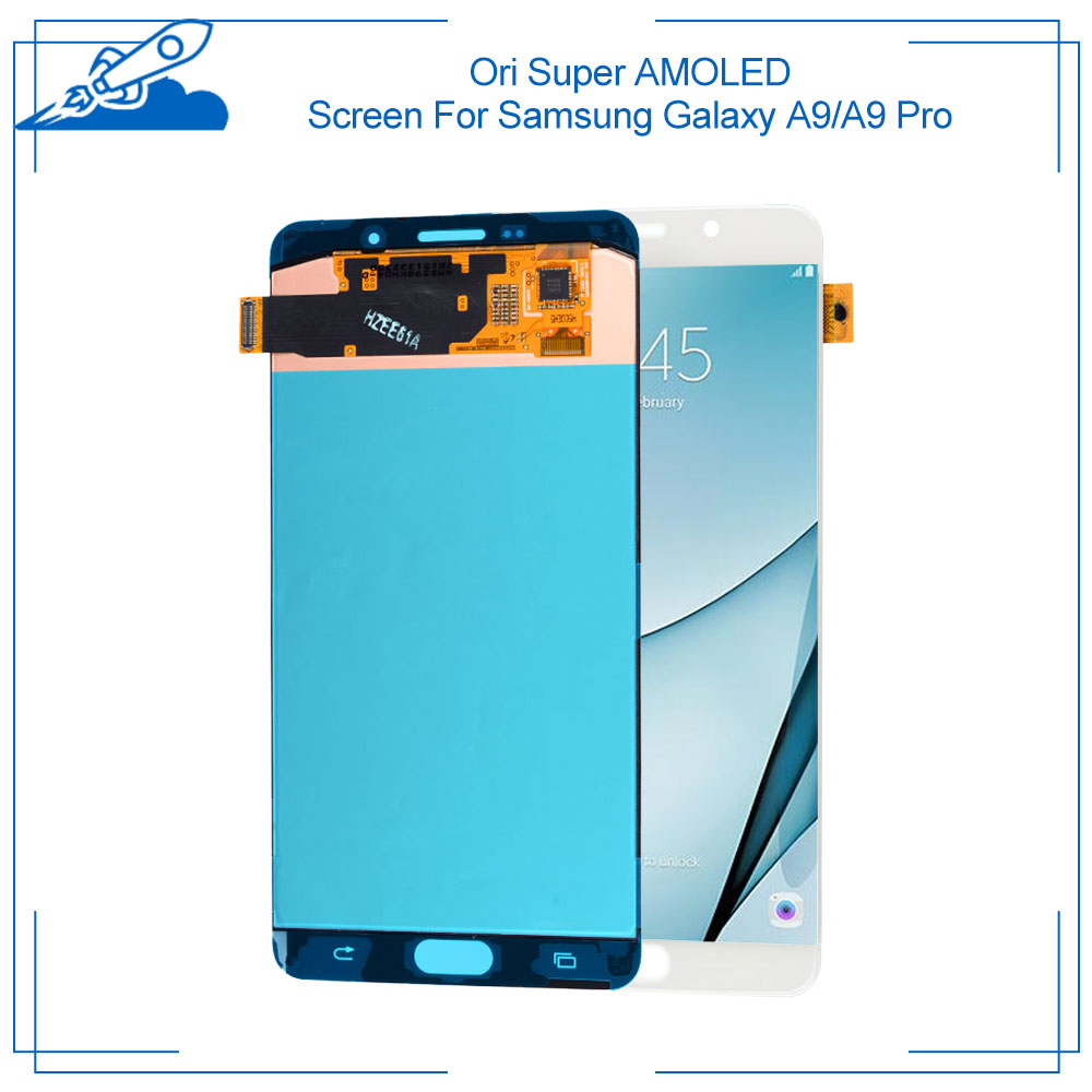 Ori For <font><b>Samsung</b></font> <font><b>Galaxy</b></font> 2016 <font><b>A9</b></font> <font><b>A9</b></font> Pro A910 A900 2018 A920 Super AMOLED Display With Touch <font><b>Screen</b></font> Digitizer Assembly Replacement image