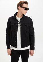 DeFacto Man Black Denim Jacket Men Casual Denim Coats Men #8217 s Top Coat men #8217 s spring jacket Fashion Denim Jackets-M4851AZ20SP cheap Single Breasted Outerwear Coats REGULAR STANDARD Wide-waisted Solid Pockets COTTON Turn-down Collar Conventional