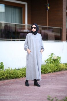 Women Long Dresses Muslim Robe Turkish Clothes For women European Clothing Moroccan kaftan Moroccan tagine autumn Garment eid image