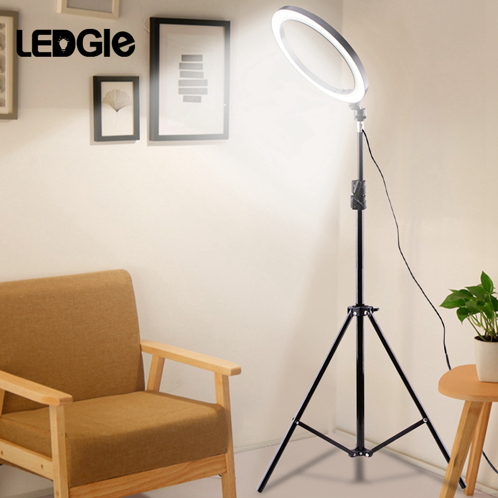 2020 Selfie Lamp LED Studio Camera Beauty Ring Light Photo Phone Video Light With Tripods Selfie Stick Fill Dimm Lamp For Canon