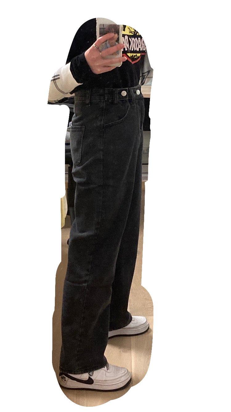 E-girl Soft girl High Waist Harajuku Straight Jeans photo review