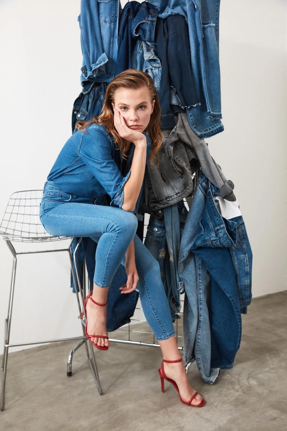 Облегающие джинсы с высокой талией TWOSS20JE0302