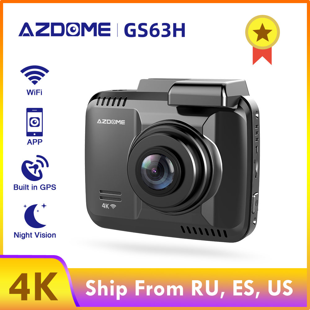 AZDOME GS63H 4K Built in GPS WiFi Dash Cam Dual Lens Car DVRs Recorder Vehicle Rear View Camera Camcorder Night Vision Dashcam