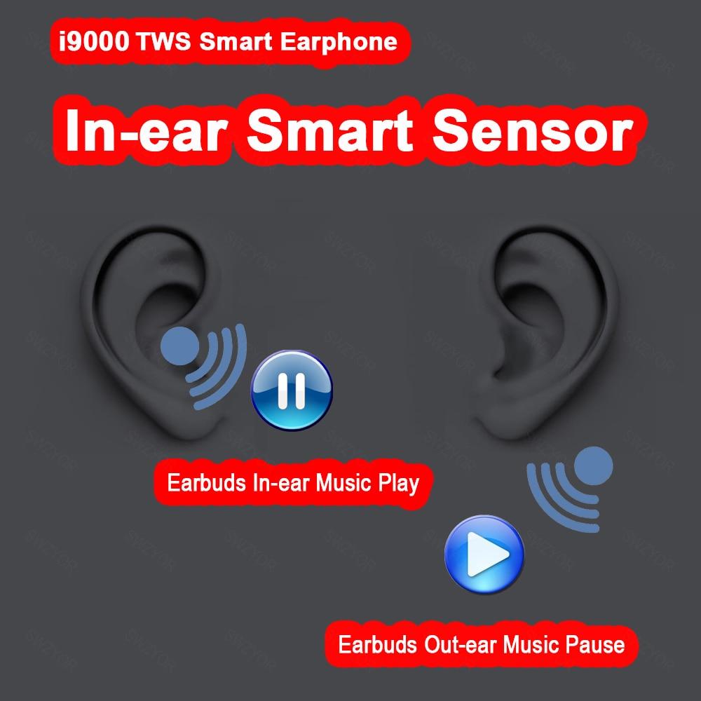 I9000 TWS Arie 2 réplique 1:1 capteur intra-auriculaire vérifier écouteur sans fil 8D Super basse Bluetooth 5.0 écouteurs pk h1 puce i2000 i500 tws - 2