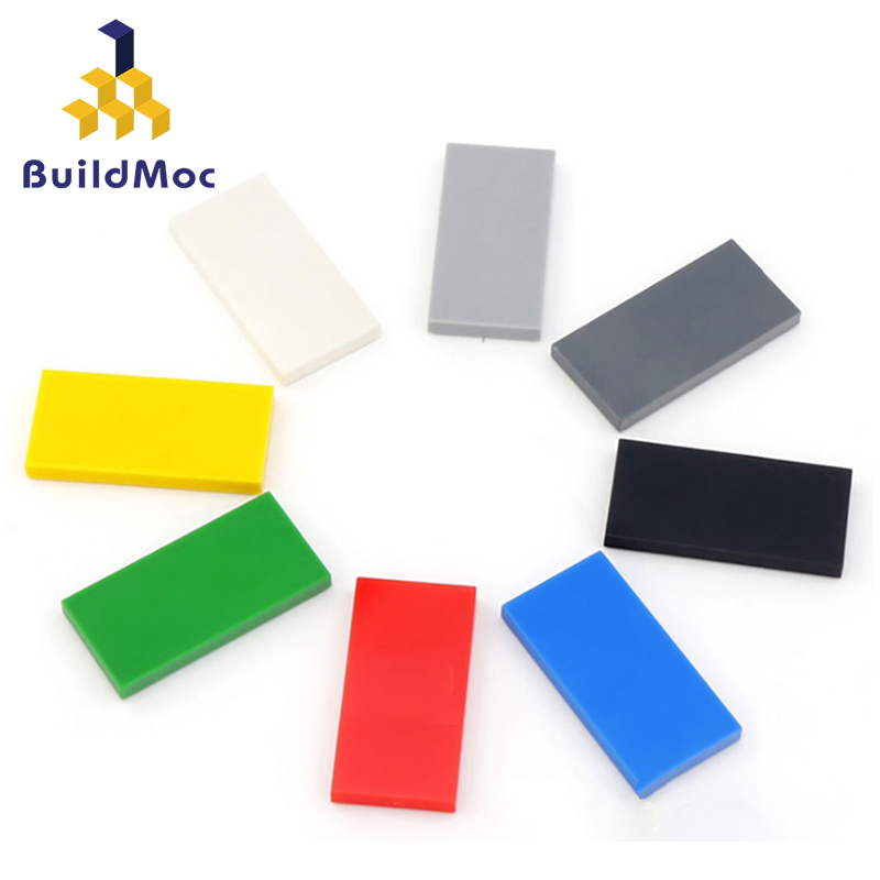100pcs DIY Building Blocks Figures Bricks Smooth 2x4 Educational Creative Size Compatible With Lego Plastic Toys For Children