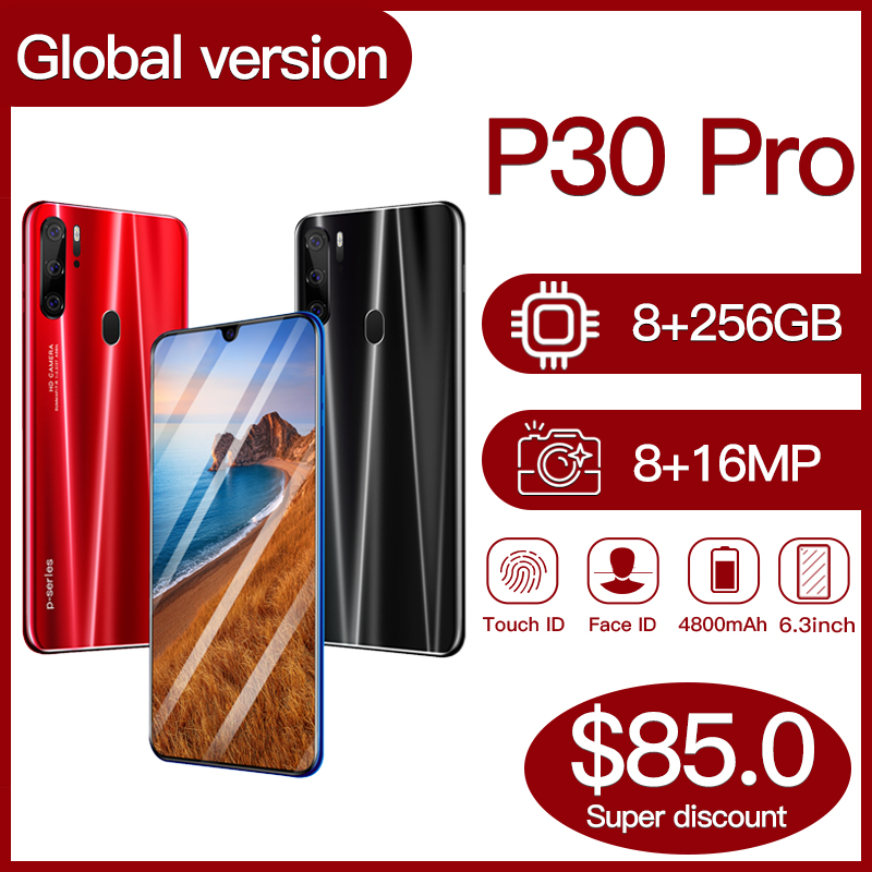 Global Version Hawei P30 Pro 8GB 256GB 5G Smartphone 6.3 inch MTK 6595 10 core 4g network Mobile Phones Android 9.1 CellPhone