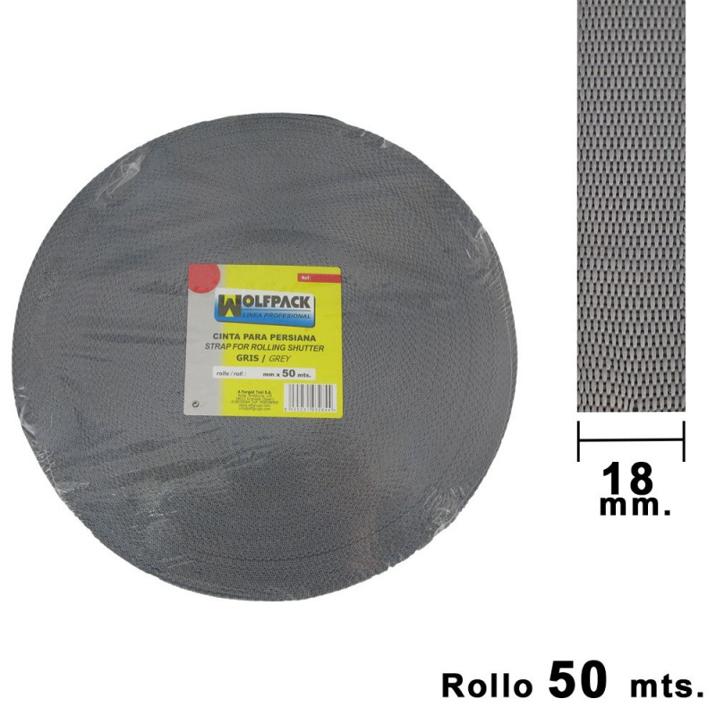 Tape Blind Wolfpack Gray 18mm. Roll 50 Meters