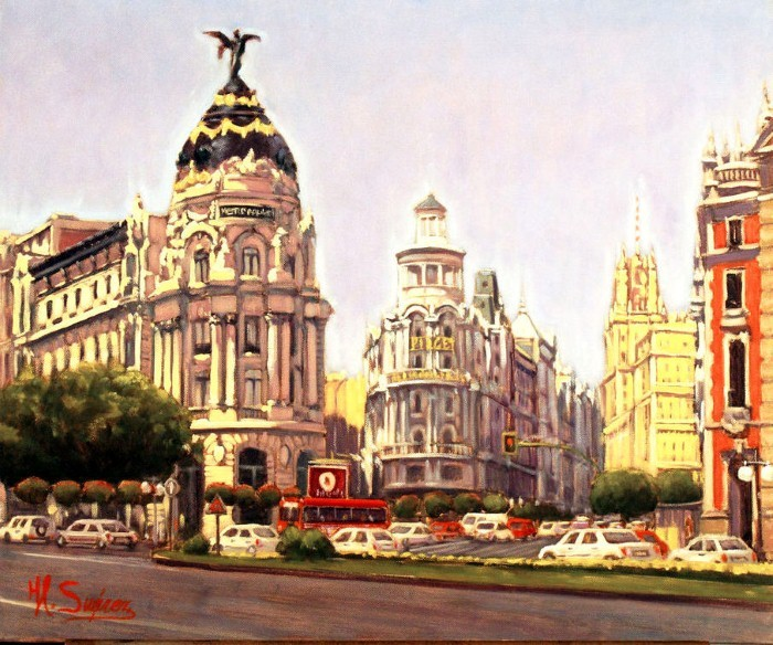 Painting By Numbers Madrid, Spain, 40x50 Cm
