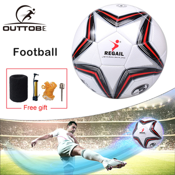 Outtobe Size 5 Soccer Ball Football Seamless Anti-slip PU Children Football Indoor/outdoor Training Soccer with Free Inflator professional football pu seamless football match training ball standard football free air pump air needle bag