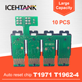 ICEHTANK 10 шт. T1971 T1962 СНПЧ комбинированные ARC чипов совместимый для Epson XP-201 XP-211 XP-204 XP-401 XP-411 XP-214 XP-101 WF-2532
