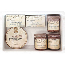 Selection of 6 fish canning specialties El Ronqueo | Assortment presented in box | Ideal for gift