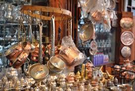 Set 2 - (9 PCS) Copper Turkish Tea Coffee Espresso Cups Set Anatolian Arabic Coffee Cups Set Ottoman Tea Sets MADE IN TURKEY