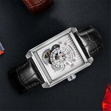 BINLUN relojes de lujo para hombre, automático, con movimiento de joyería clásica de cristal de zafiro, resistente al agua, mecánico, masculino
