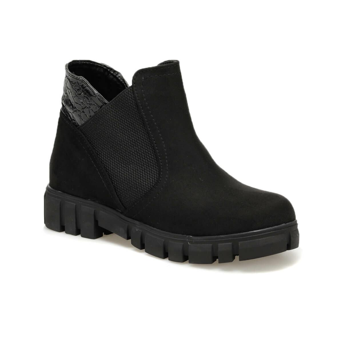 حذاء بوت نسائي أسود من جلد الغزال FLO PİPPO85Z BUTIGO