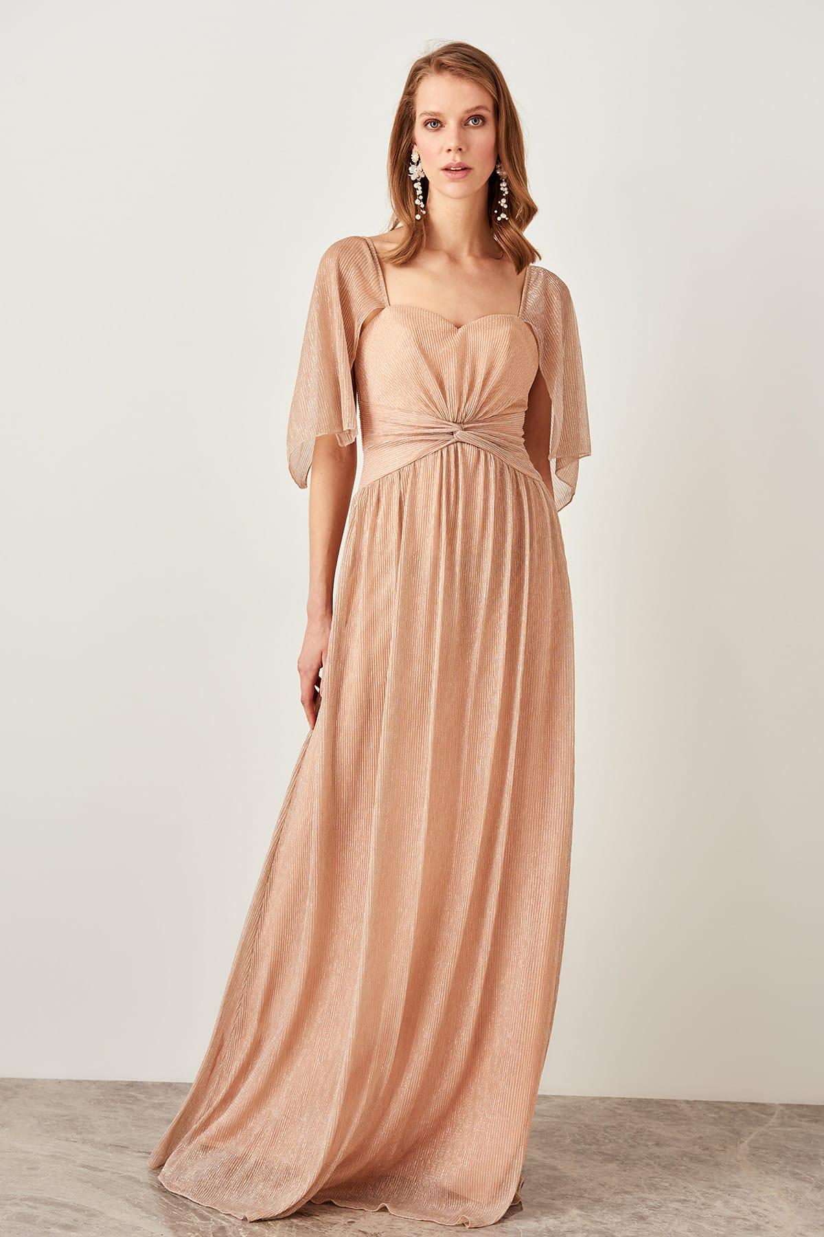 Trendyol Shir Detailed Evening Dress TPRSS19VF0017