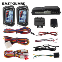 Easyguard Auto Start Stop 2 Weg Auto Alarm Systeem Grote Lcd Pager Display Turbo Timer Modus Shock/Trillingen Alarm