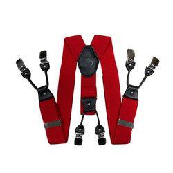 Hosenträger für hosen breite (4 cm, 6 clips, rot) 55129