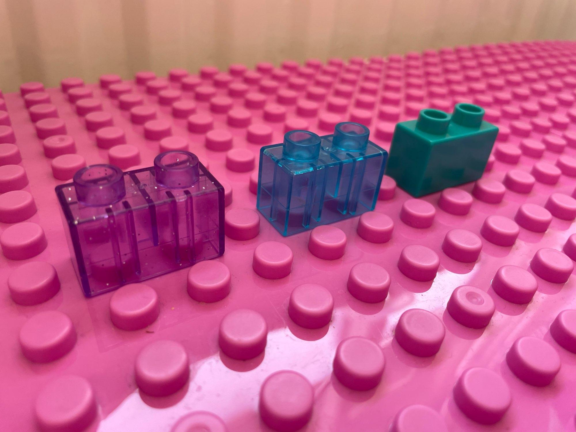 10Pcs MOC DIY Large Building Blocks Compatible Duplo Transparent Big Bricks Children Kid Assembly Educational Creative Toy Gifts photo review