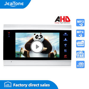 Jeatone 7inch Video-Intercom Door Phone-Security-System Monitor-Only Voice-Message/motion-Detection