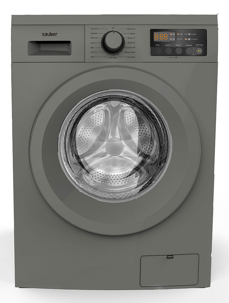 Washing Machine Front Load Sauber Wm814Inox 8 Kg 1400 Rpm A + + + Inox