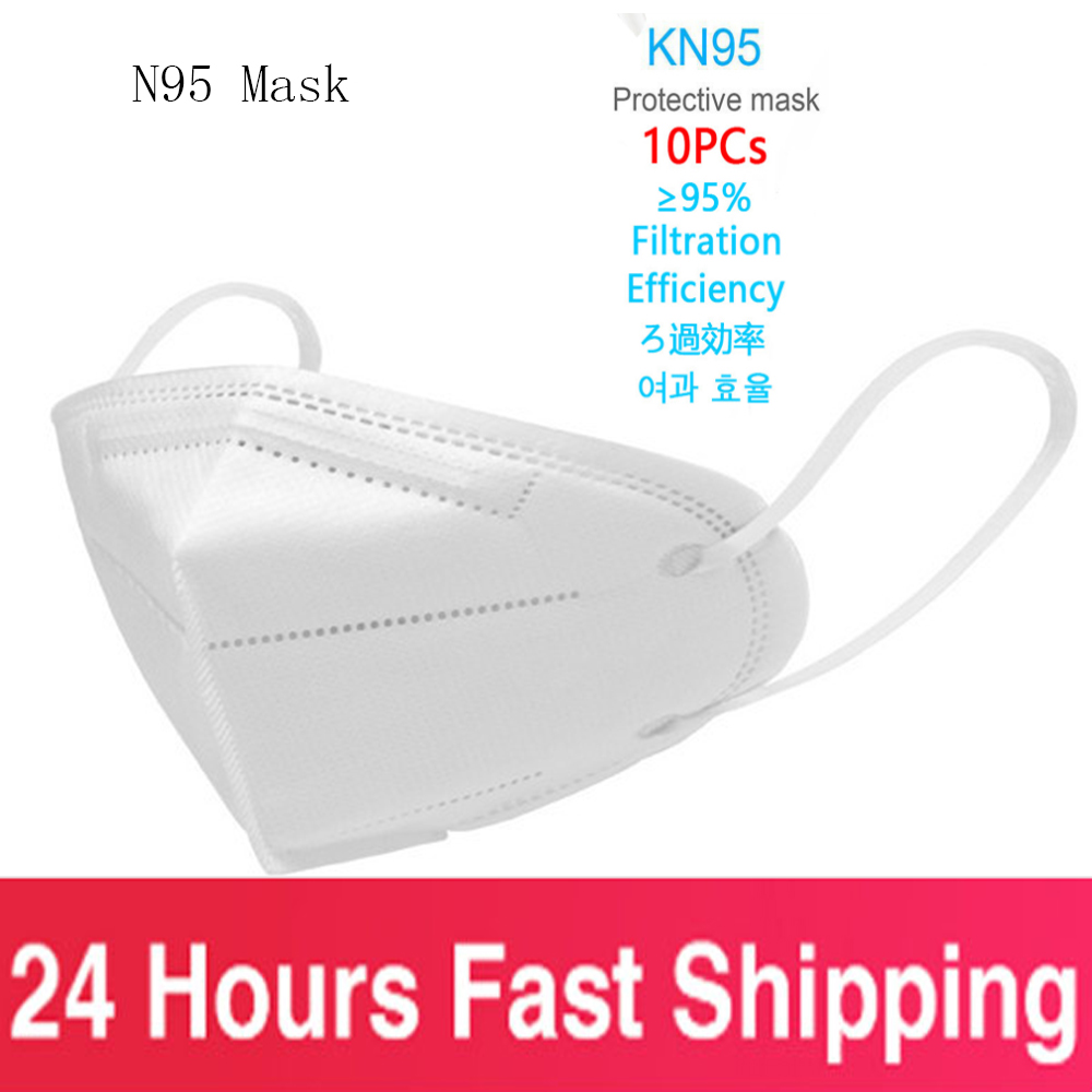 10PCS Anti-fog N95 Mask CE Certification Dust-proof Anti-infective Mask PM2.5 Protective Mask Reusable PK Ffp3 Fpp3 FPP2 FFP2