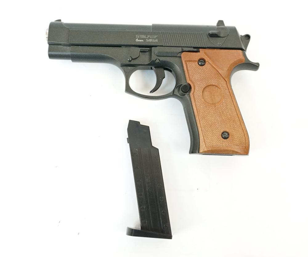 Пистолет страйкбольный Stalker SA92M Spring (аналог Beretta 92), к.6мм, мет.корпус, магазин 8шар|Пейнтбол| | АлиЭкспресс