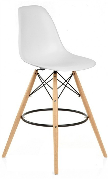 Stool TOWER, Wood, White Housing
