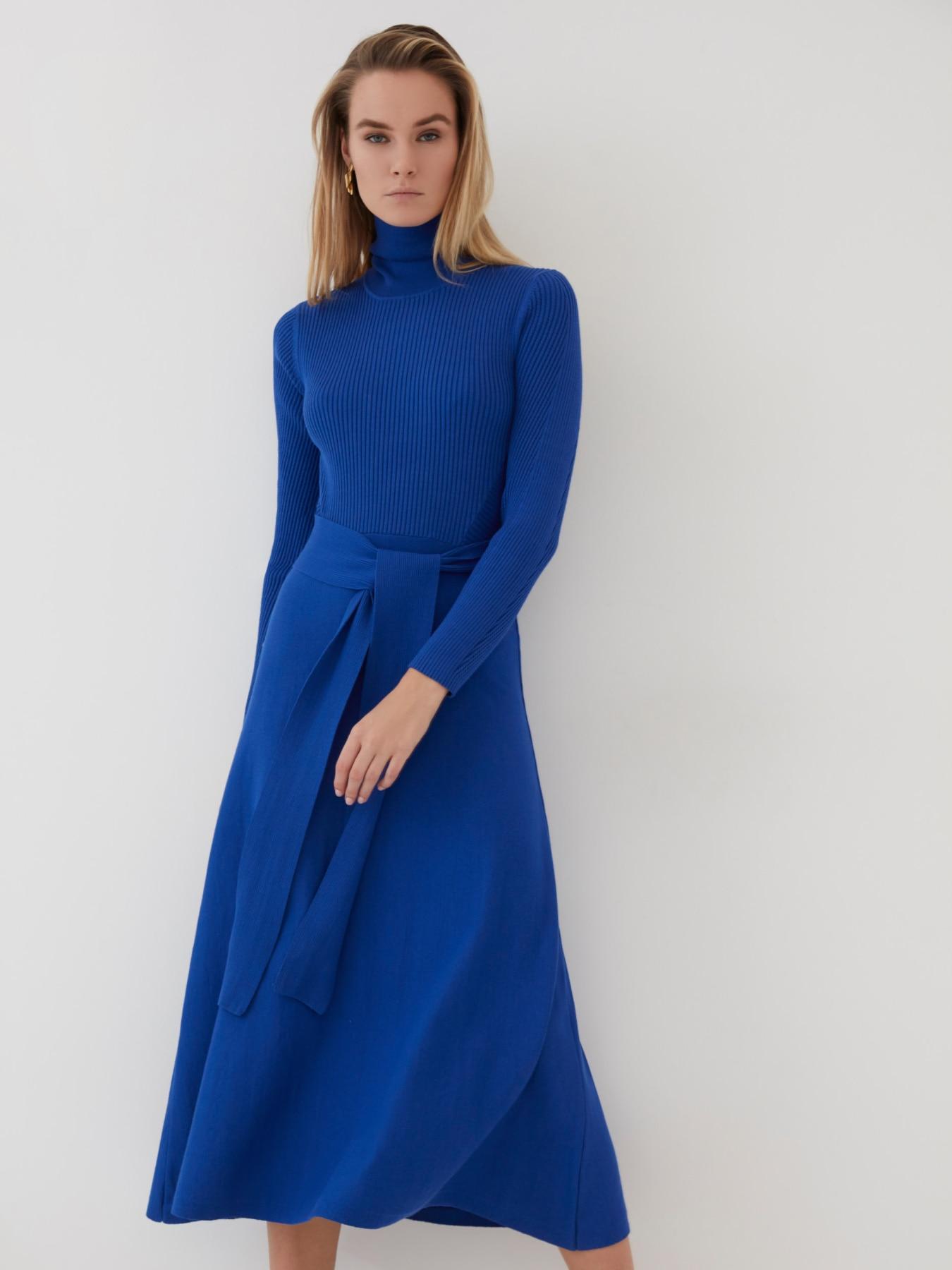 Трикотажное платье миди 0421627507|Платья| | АлиЭкспресс