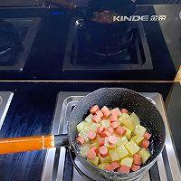 金帝集成灶美食推荐之孜然香肠土豆丁的做法图解3
