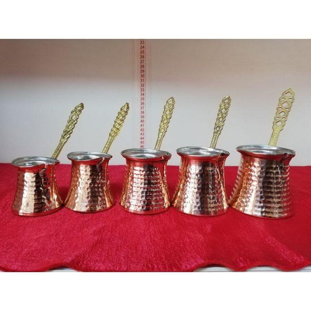 Hand Hammered Ibrik Turkish Coffee Pot 6