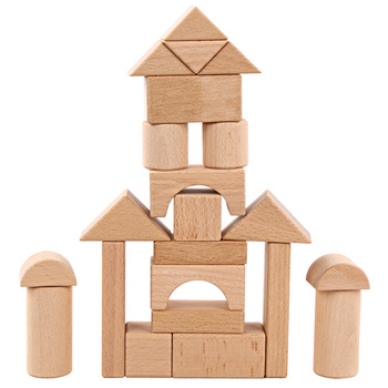 Wooden Blocks Toys For Children Safe Material High Quality Geometric Shape Big Size Wooden Building Blocks Early Education Toy lagopus 100 pieces of educational toys wooden toys wooden suits small train tracks children early education toy for children